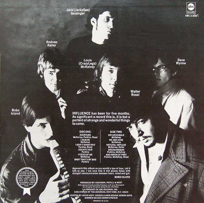Influence LP back cover