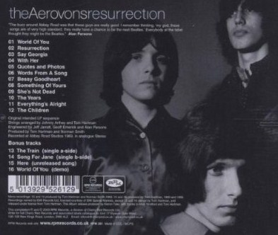 RPM Resurrection cd, back cover