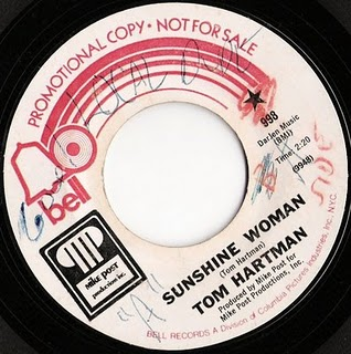 Tom Hartman, Sunshine Woman, Bell Single, 1971