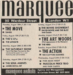 Clayton Squares at The Marquee August 1966