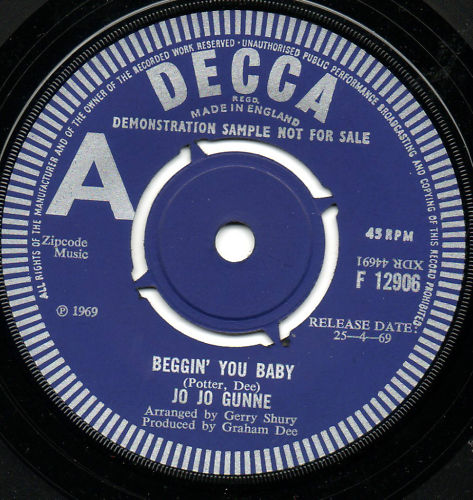 Jo Jo Gunne, Beggin' You Baby, Decca Single, 1969
