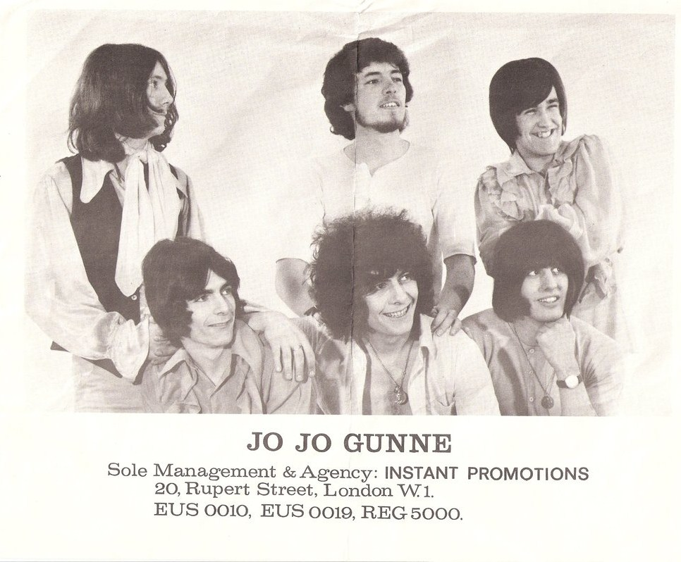 Jo Jo Gunne, early 1969. Mick Wheeler bottom right. (Photo from Alan Barratt)