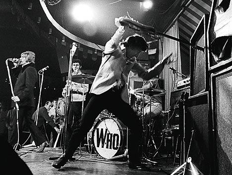 The Who creating havoc at another gig
