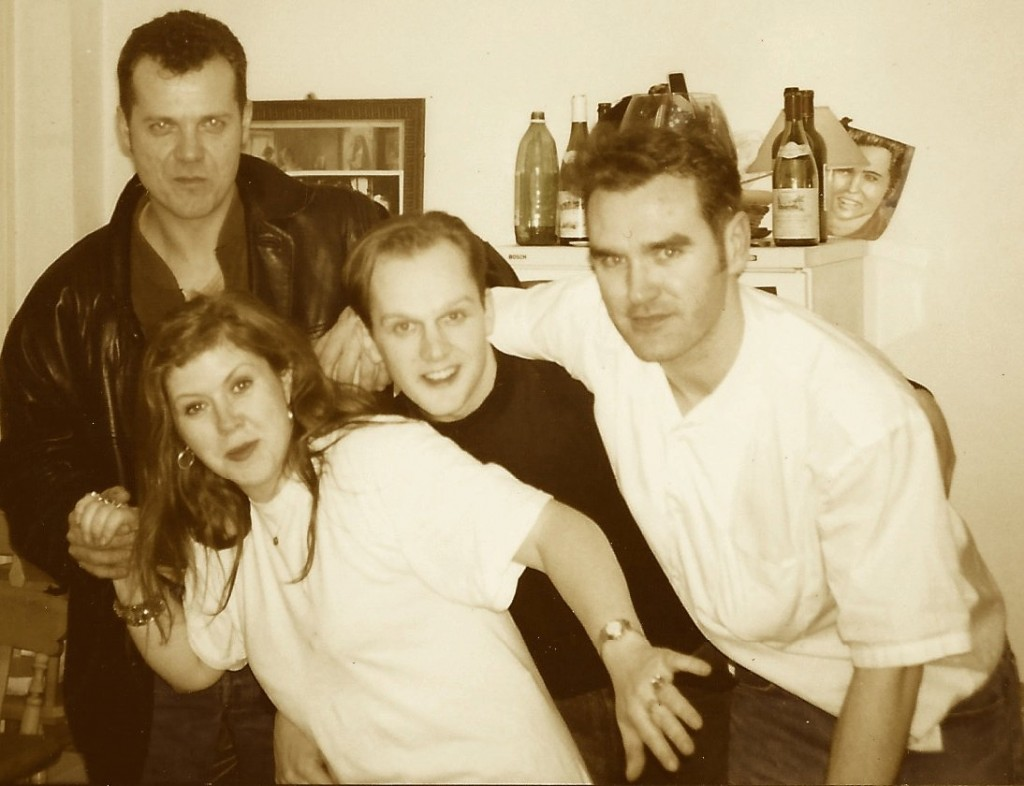 Left to Right - Peter Hogg, Kirsty MacColl, Mark Nevin, Morrissey - Hartland Road, Camden 1991