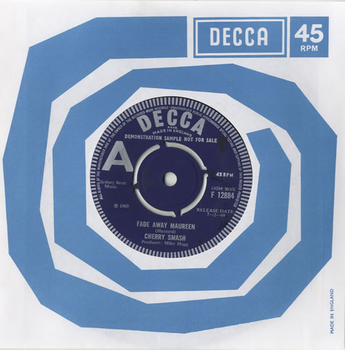Cherry Smash, Fade Away Maureen, Decca Single, 1968