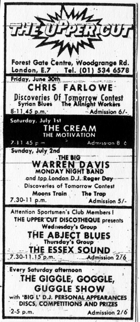 The All Night Workers support Chris Farlowe at The Uppercut, East London, 30 June 1967