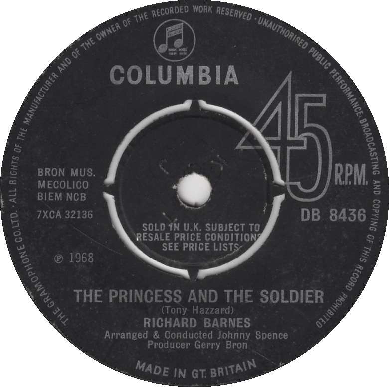 Richard Barnes, The Princess and the Soldier, Columbia B-side, 1968