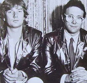 Trevor Horn as one half of Buggles (right)