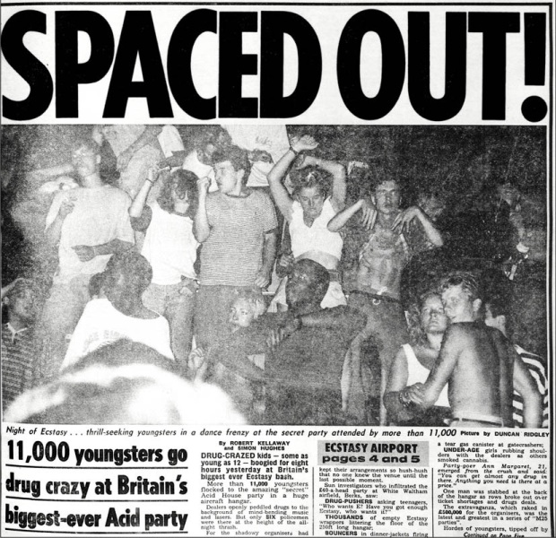 Acid House Media Storm, The Sun c1988 (from http://dangerousminds.net/tag/The-Sun)