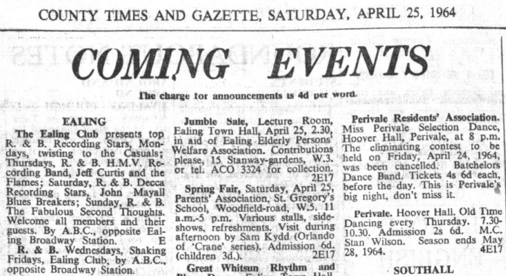 Ealing Club April 1964